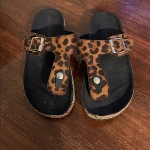 Leopard Print ANNA Sandals